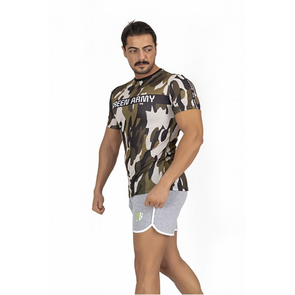 GREEN ARMY  CAMOUFLAGE FİLE T-SHİRT