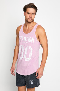 BE GREEN WASHED PEMBE GYM TANK TOP
