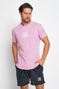 BE GREEN WASHED PEMBE T-SHİRT